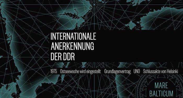 Internationale Anerkennung der DDR Ostseewoche 1975
