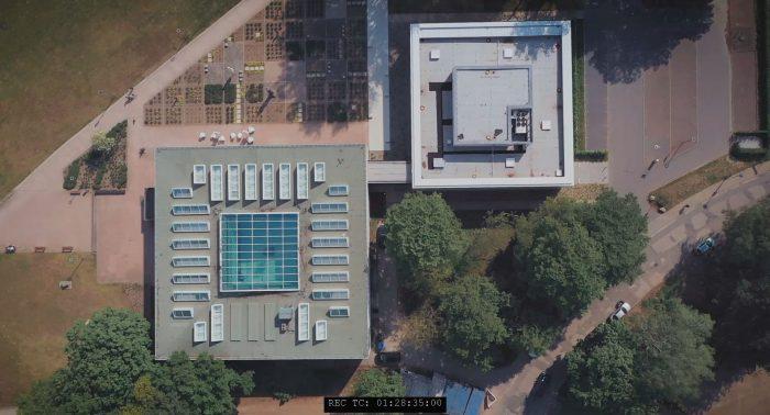Kunsthalle Rostock von oben Dach